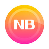 The NB button note. Vector illustration. Stock Images