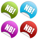 Nb sticker Stock Photography