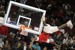 NBA Acrobatic Half Time Show Stock Images