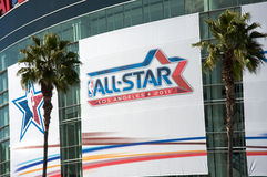 NBA Al Spel van de Ster op het Centrum van Nietjes Royalty-vrije Stock Afbeelding