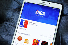 Nba app Obrazy Stock
