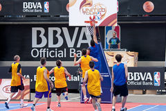 NBA and BBVA United Tour in Barcelona, Spain Royalty Free Stock Photos