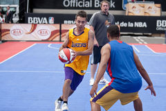 NBA and BBVA United Tour in Barcelona, Spain Royalty Free Stock Photo