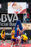 NBA and BBVA United Tour in Barcelona, Spain Stock Image