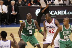 NBA Boston Celtics v 76ers Stock Image