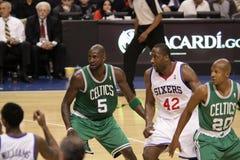 NBA Boston Celtics v 76ers Stock Image