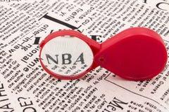 NBA della lente Fotografia Stock