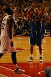 NBA en Europa - tiro libre de los avispones Imagen de archivo libre de regalías