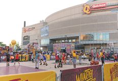 Free NBA Fans Play Basketball Outside The Q Prior To The NBA Finals In Cleveland Royalty Free Stock Photos - 118416468