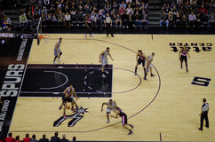 NBA game - Spurs vs. Blazers Royalty Free Stock Photography