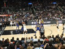 NBA game Spurs vs Warriors Royalty Free Stock Photo