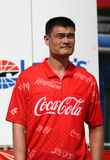 NBA gracz Yao przy NASCAR'S Koka-kolą Ming 600 fotografia royalty free