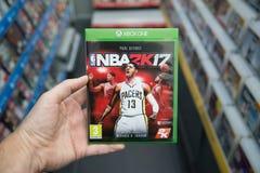 NBA 2K17 videogame on XBOX One Stock Photography