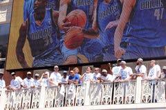 NBA Mavericks champions parade stock image