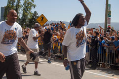 2015 NBA-Meisterschafts-Kriegers-Parade Stockfotos