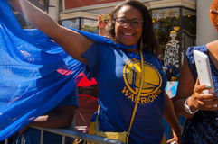 2015 NBA-Meisterschafts-Kriegers-Parade Lizenzfreie Stockbilder