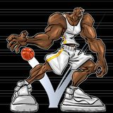 NBA Monster royalty free illustration