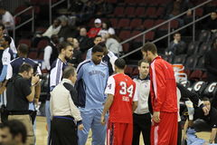 NBA Netten v Memphis Royalty-vrije Stock Foto's