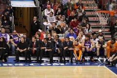 NBA Phoenix expose au soleil le banc Image libre de droits