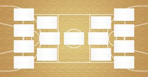 NBA playoffs schedule - NBA brackets - Basketball finals scheme - Natural wood floor color. NBA playoffs schedule and playoffs rackets in natural wood color Royalty Free Stock Photography