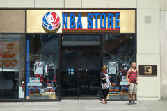 NBA Store Royalty Free Stock Photography