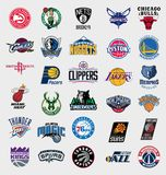 NBA teams logos Royalty Free Stock Photo