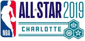 NBA todo el editorial ilustrativo del juego de la estrella ilustración del vector