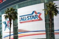 NBA todo el juego de la estrella en el centro de las grapas Imagen de archivo libre de regalías