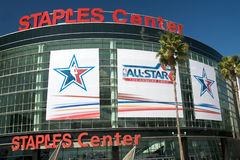 NBA tout le jeu d'étoile au centre d'agrafes Images stock