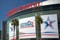 NBA tutto il gioco della stella al centro delle graffette Immagine Stock Libera da Diritti