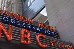 NBC演播室标志 库存照片