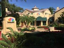 NBC Media Center wśrodku universal studio obraz stock