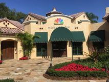 NBC Media Center wśrodku universal studio obrazy stock