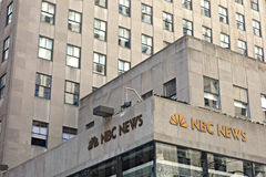 NBC News Headquarters. The headquarters of NBC News, the news division of the  broadcast network NBC, at Rockefeller Center, in New York City Stock Photo