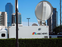 NBC News Satellite Truck Royalty Free Stock Images