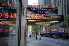 NBC-Studio in Manhattan Stockbilder
