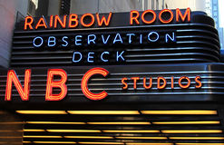NBC Studio Neon Sign Stock Images
