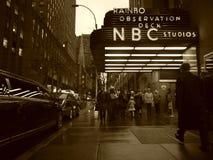 NBC-Studios in der Rockefeller-Mitte stockbild