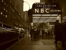 NBC Studios at the Rockefeller Center Stock Image