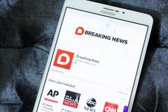 Nbc wiadomości dnia app logo Zdjęcia Stock