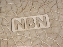 NBN wording on a new roadside pit Royalty Free Stock Photo