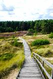 Boardwalk off Amrum Island in Schleswig-Holstein Germany North Sea royalty free stock photography