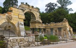 nbrunn το παλάτι Ρωμαίος καταστρέφει sch Στοκ Φωτογραφία