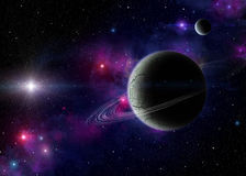 Nébuleuses planétaires et exoplanets Photographie stock