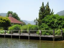 NC山的湖 免版税库存图片