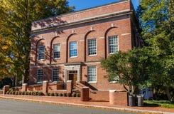 NC的州立大学Peele霍尔 库存照片