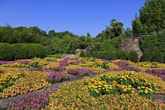 NC Arboretum in Asheville. The Quilt Garden at the North Carolina Arboretum in Asheville near the Blue Ridge Parkway Stock Images