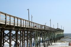 NC Beach Pier. Pier at Holden Beach NC Stock Photos