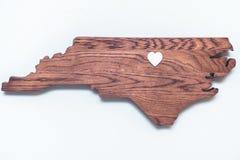 NC Cutout. A wood cutout of North Carolina royalty free stock photo