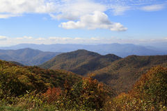 NC Mountains in the Autumn Season Royalty Free Stock Images